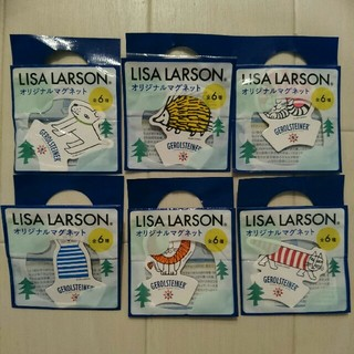 リサラーソン(Lisa Larson)の【非売品】リサラーソン オリジナルマグネット全6種(ノベルティグッズ)