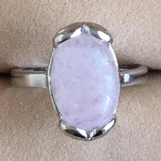 (91)大粒ローズクォーツリング シルバー ヴィンテージ(リング(指輪))
