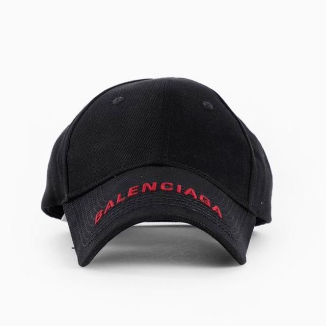 Balenciaga(バレンシアガ)の【3】BALENCIAGA ブラック ロゴ刺繍入り キャップ/帽子 男女兼用 レディースの帽子(キャップ)の商品写真