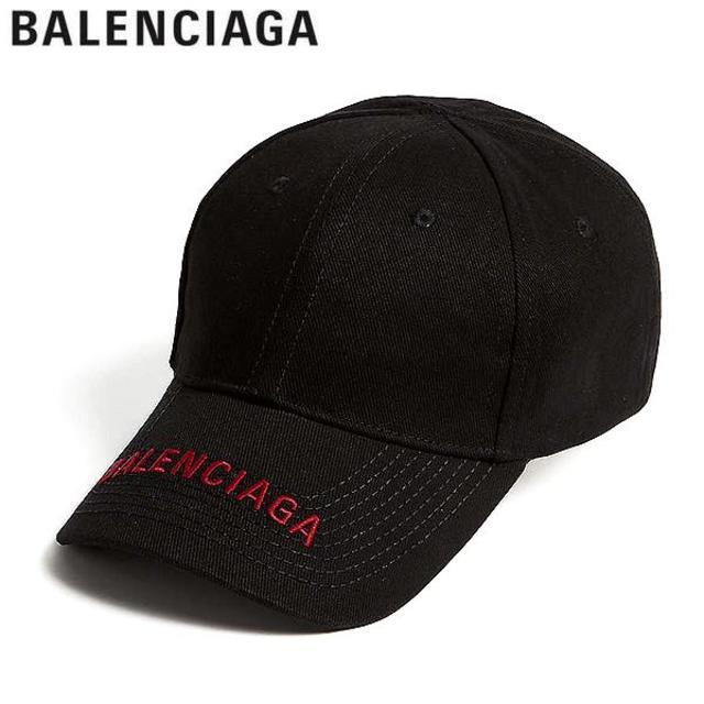 Balenciaga(バレンシアガ)の【3】BALENCIAGA ブラック ロゴ刺繍入り キャップ/帽子 男女兼用 メンズの帽子(キャップ)の商品写真