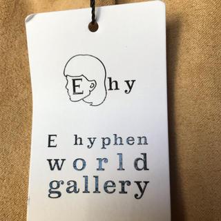 イーハイフンワールドギャラリー(E hyphen world gallery)のピーチ起毛ギャザースカート(ひざ丈スカート)