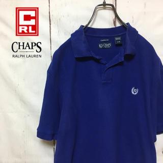 チャップス(CHAPS)の古着 90s チャップス ラルフローレン 半袖ポロシャツ ビッグサイズ 刺繍(ポロシャツ)