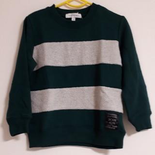 サンカンシオン(3can4on)のトレーナー グリーン 100(Tシャツ/カットソー)