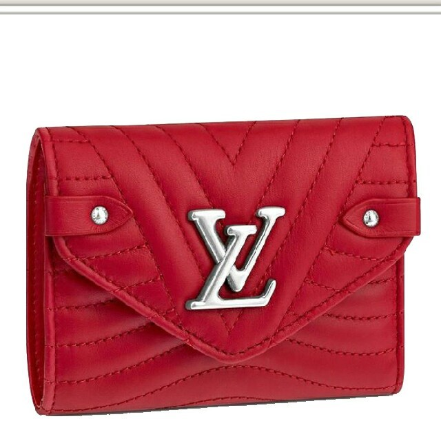 LOUIS VUITTON - LV ロゴ ルイヴィトン 3つ折り 財布 ウォレット 赤の通販 by タツヤ's shop|ルイヴィトンならラクマ