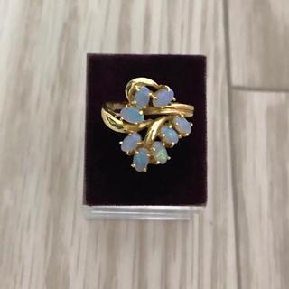 K18  刻印あり オパール デザイン リング(リング(指輪))