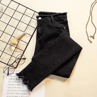 ディーホリック(dholic)のジーンズ パンツ 黒 韓国ファッション スキニー(スキニーパンツ)
