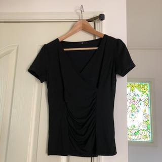 ベルメゾン(ベルメゾン)のカットソー 黒  (カットソー(半袖/袖なし))