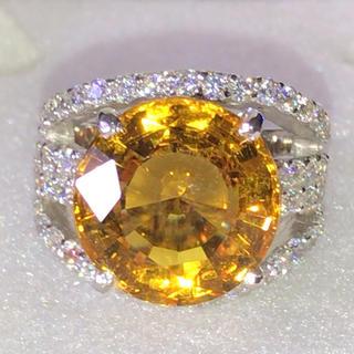 イエローサファイア リング 指輪 シルバー925(リング(指輪))
