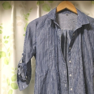 イオン(AEON)のシンプル ストライプシャツ(シャツ/ブラウス(長袖/七分))