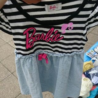 バービー(Barbie)のバービー☆90ボーダーワンピ(その他)
