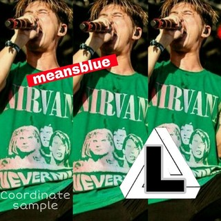 ワンオクロック(ONE OK ROCK)のL/ nirvana nevermind T緑(Tシャツ/カットソー(半袖/袖なし))