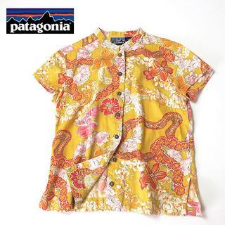 パタゴニア(patagonia)のpataloha パタゴニア ハイビスカス柄ローカラーアロハシャツ(シャツ/ブラウス(半袖/袖なし))