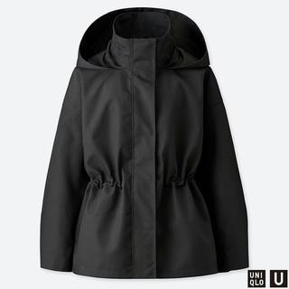ユニクロ(UNIQLO)の【新品タグ付き】Uniqlo-U  ブロックテックジャケット ブラック S(モッズコート)