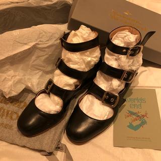 ヴィヴィアンウエストウッド(Vivienne Westwood)の再値下げ 美品 レア ヴィヴィアンウエスウッド ロマンスリーストラップ 黒(ローファー/革靴)