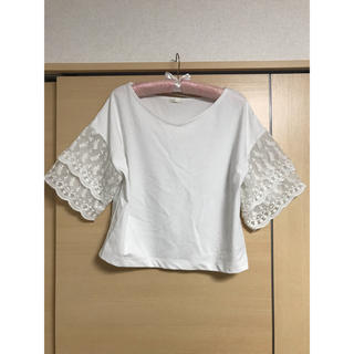 ジーユー(GU)の袖レース カットソー(カットソー(半袖/袖なし))