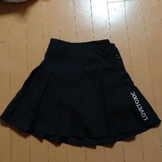 イング(INGNI)のラブトキシック プリーツスカパン 黒 140 スカート(スカート)