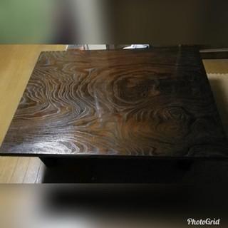 アンティーク 和室 昭和 無垢 高級 ヴィンテージ天然木 座卓 座敷机 (ローテーブル)