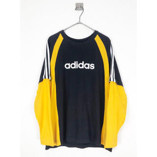 vintage ヴィンテージ 90s adidas ロゴ ドッキング カットソー