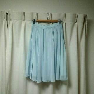 ビューティアンドユースユナイテッドアローズ(BEAUTY&YOUTH UNITED ARROWS)のUNITED ARROWS   シフォンスカート  美品(ひざ丈スカート)