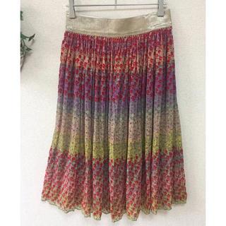 ツモリチサト(TSUMORI CHISATO)のTSUMORI CHISATO(ツモリチサト)シルク ちりめん風 スカート(ひざ丈スカート)