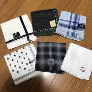 チャップス(CHAPS)の最終値下げ‼️メンズ ブランドハンカチ 5枚と日本製!白いハンカチ(ハンカチ/ポケットチーフ)