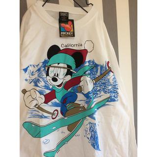 ディズニー(Disney)のビンテージ mickey オーバーサイズ シャツ(シャツ/ブラウス(長袖/七分))