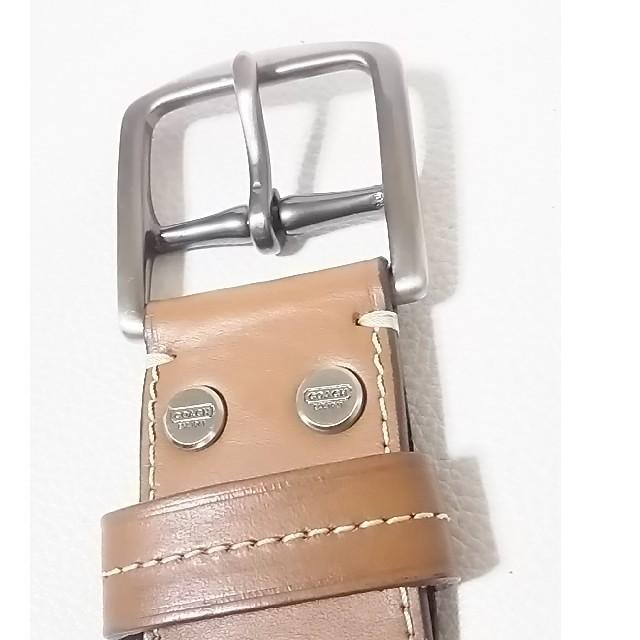 COACH(コーチ)の 定2万限定即完売!コーチ高級牛革レザーベルト人気茶!w32    メンズのファッション小物(ベルト)の商品写真