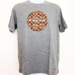 コーチ(COACH)のCOACH コーチ Tシャツ トップス メンズ 半袖 F33780 グレー M(Tシャツ/カットソー(半袖/袖なし))