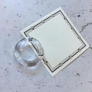 クリアリング  ⁎⁺˳✧༚ 約16号(リング(指輪))