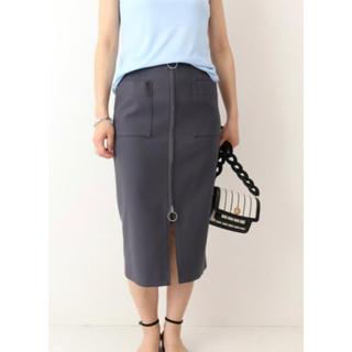 ノーブル(Noble)のスピック&スパンノーブル ダブルクロスフープジップタイトスカート 34(ひざ丈スカート)