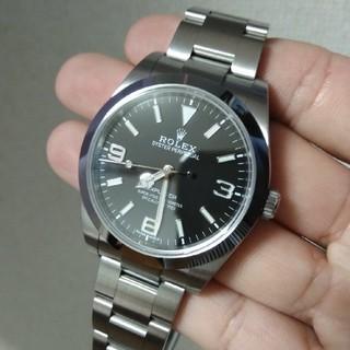 ロレックス(ROLEX)のほぼ新品!214270 現行エクスプローラー1 鏡面バックル  19年8月購入(腕時計(アナログ))