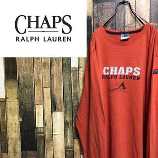 チャップス(CHAPS)の【激レア】チャップスラルフローレン☆メキシコ製ロゴタグロゴプリントロンT 90s(Tシャツ/カットソー(七分/長袖))