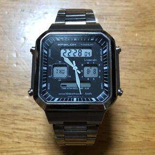 アルバ(ALBA)のSEIKO ALBA  EPSILON TITANIUM 90sオールド腕時計(その他)