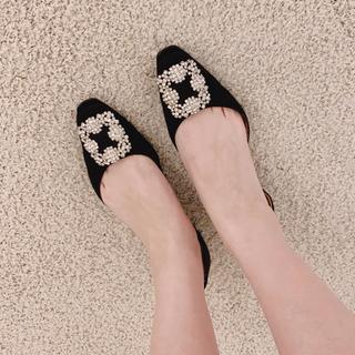 マノロブラニク(MANOLO BLAHNIK)のマノロ♡ぺたんこ靴(バレエシューズ)