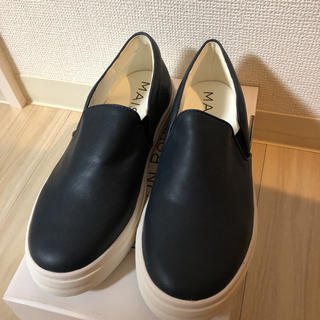 オペーク(OPAQUE)の【新品】スリッポン スニーカー 紺 レディース(スニーカー)