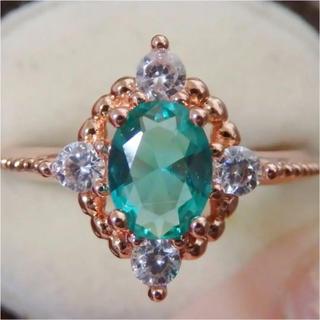即購入OK● エメラルドのようなピンクゴールドアンティーク調リング指輪(リング(指輪))