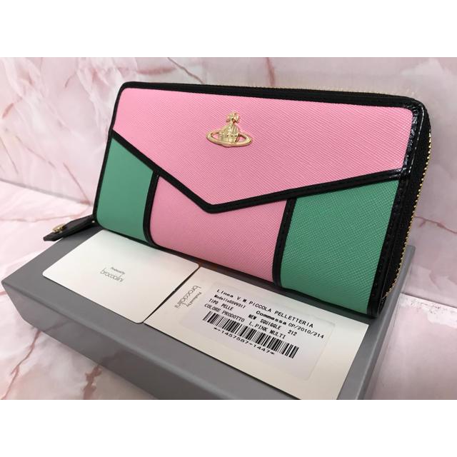 Vivienne Westwood - ピンク×グリーン長財布❤️ヴィヴィアンウエストウッドの通販 by フィック↑|ヴィヴィアンウエストウッドならラクマ