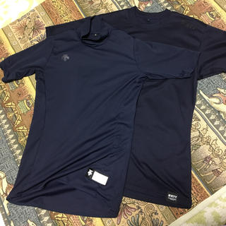 DESCENTE - used 半袖 アンダーシャツ Sサイズ 2枚セット DESCENTE&ZETT