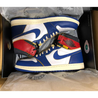 ナイキ(NIKE)の【27.5cm】UNION×NIKE AIR JORDAN 1 Blue 青 (スニーカー)