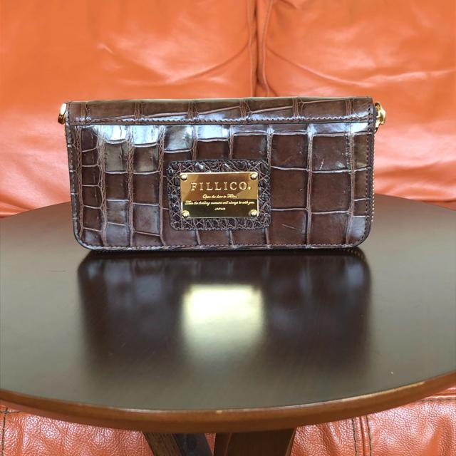 Crocodile - 美品  FILLICO  クロコダイル  ラウンド長財布の通販 by ミカ's shop|クロコダイルならラクマ