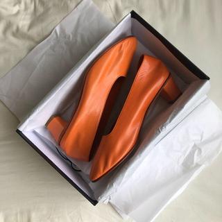 トゥモローランド(TOMORROWLAND)のmartiniano マルティニアーノ オレンジ 39(ローファー/革靴)