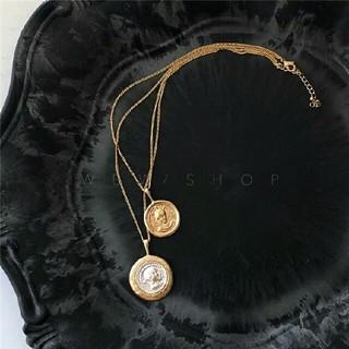 アメリヴィンテージ(Ameri VINTAGE)のインポート medal necklace(ネックレス)