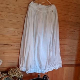 2*mama様専用 白かぼちゃスカート(ロングスカート)