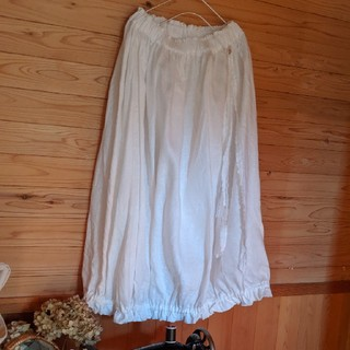 5*R様専用 白かぼちゃスカート(ロングスカート)