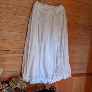 6*モカバナナ様専用 白かぼちゃスカート(ロングスカート)