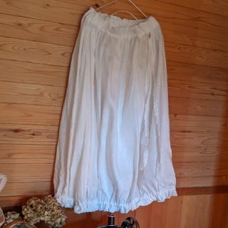 7*まゆ様専用 白かぼちゃスカート(ロングスカート)