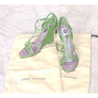 ルイヴィトン(LOUIS VUITTON)のヴィトンLOUIS VUITTON[パンプス]c06163(サンダル)