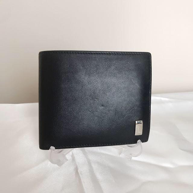 Dunhill - 正規品 ダンヒル メンズ 二つ折り財布 レザー 黒 良品の通販 by kaori's shop|ダンヒルならラクマ
