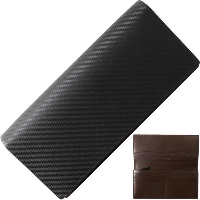 Dunhill - ダンヒル 二つ折り長財布 カーボンファイバープリント レザー 黒の通販 by papi's shop|ダンヒルならラクマ