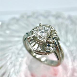Pt900 メレダイヤ  ダイヤモンド リング 10.5号 19-6133(リング(指輪))